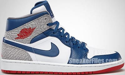 Air Jordan 1 Mid 4th of July Release Date 2013