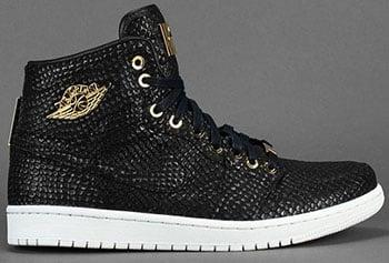 Air Jordan 1 High Pinnacle Black Gold 2015 Release Date