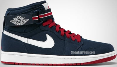 Air Jordan 1 High Strap Premier Midnight Navy Red Sail Release Date
