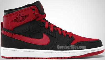 Air Jordan 1 KO Black Varsity Red White Release Date 2012