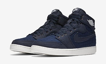 Air Jordan 1 KO High OG Blue Quilted