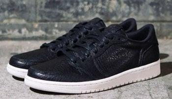 Air Jordan 1 Low No Swoosh Black