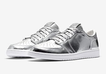 Air Jordan 1 Low Pinnacle Metallic Silver