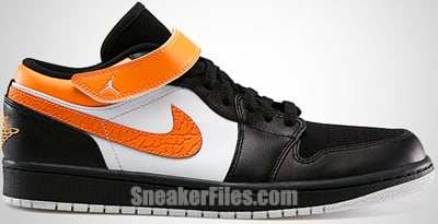 Air Jordan 1 Low Strap Black Citrus White May 2013 Release Date