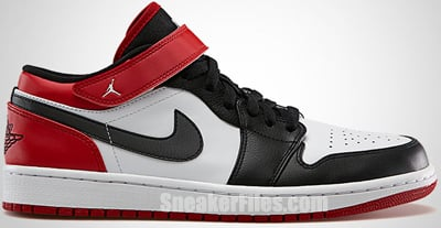 Air Jordan 1 Low Strap White Black Red May 2013 Release Date