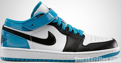 Air Jordan 1 Low Strap White Black Turquoise May 2013 Release Date