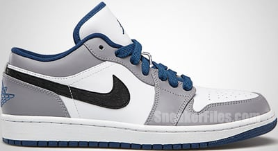 Air Jordan 1 Low White True Blue Cement Release Date 2013