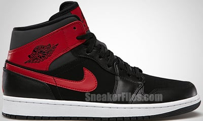 Air Jordan 1 Mid Black Red Anthracite Release Date 2013