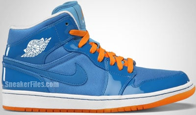Air Jordan 1 Phat Italy Blue White Orange Release Date
