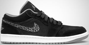 Air Jordan 1 Phat Low Black Charcoal White Release Date