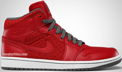 Air Jordan 1 Phat Red Grey White Release Date