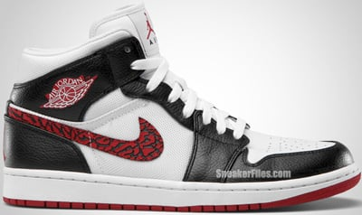 Air Jordan 1 Phat White Varsity Red Black Release Date