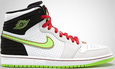 Air Jordan 1 Retro 93 White Electric Green June 2013 Release Date