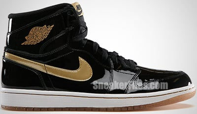 Air Jordan 1 Retro High OG Black Gold Release Date 2013
