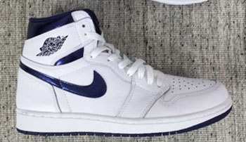 Air Jordan 1 White Metallic Navy OG