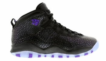 Air Jordan 10 Black Fierce Purple