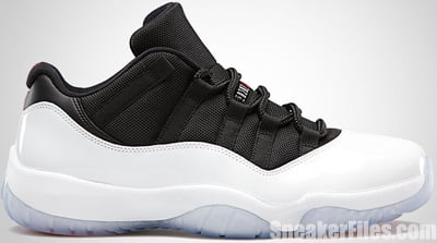 Air Jordan 11 Retro Low White Black Red June 2013 Release Date