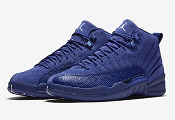 Air Jordan 12 Deep Royal Blue Suede