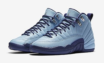 Air Jordan 12 GS Dark Purple Dust Blue Cap