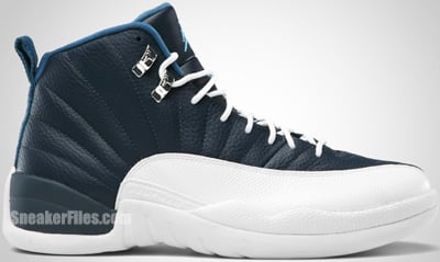 Air Jordan 12 Obsidian White French Blue University Blue Release Date 2012