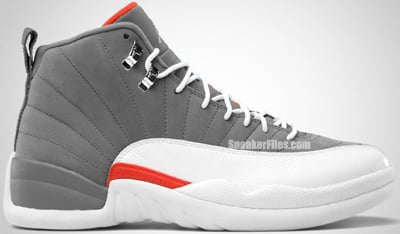 Air Jordan 12 Retro Cool Grey Team Orange White 2012 Release Date