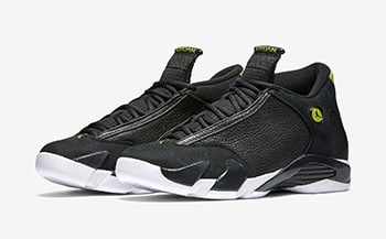 Air Jordan 14 Indiglo Black Green