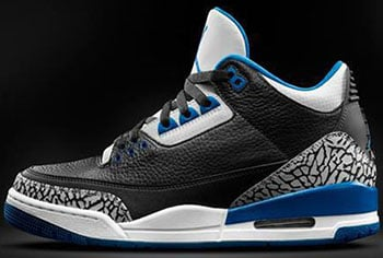 Air Jordan 3 Black Sport Blue Release Date