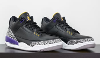 Air Jordan 3 Kobe Lakers Black