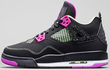 Air Jordan 4 GS Black Fuchsia Flash Liquid Lime Release Date