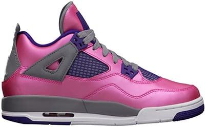 Air Jordan 4 GS Pink Foil Release Date 2013