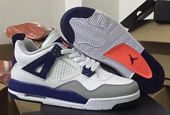Air Jordan 4 GS White Royal Grey Orange Release