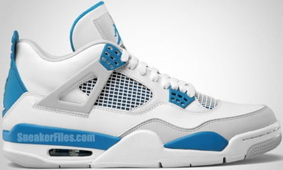 Air Jordan 4 White Neutral Grey Military Blue Release Date 2012