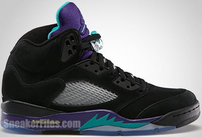 Air Jordan 5 Black Grape June 2013 Release Date