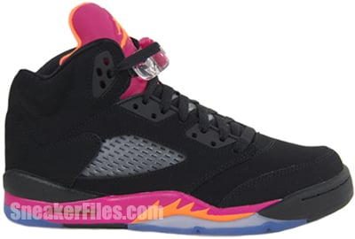 Air Jordan 5 GS Black Citrus Pink May 2013 Release Date