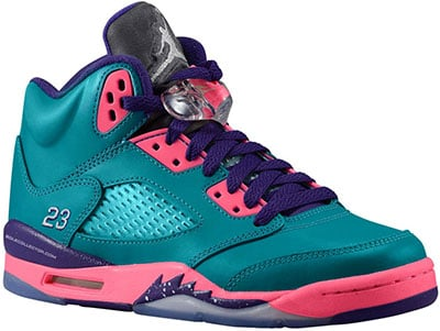 Air Jordan 5 GS Teal Pink Purple 2013 Release Date