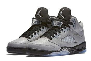 Air Jordan 5 GS Wolf Grey Black