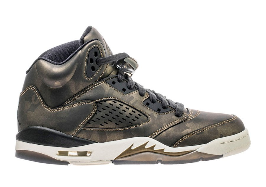 Air Jordan 5 Premium Heiress Metallic Camo