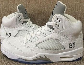 Air Jordan 5 White Metallic Silver Release Date