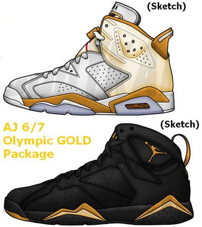 Air Jordan 6 7 Gold Metal Pack Release Date