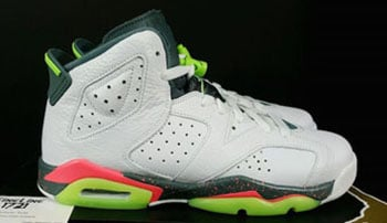 Air Jordan 6 Mango White Ghost Green