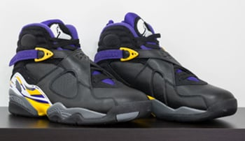 Air Jordan 8 Kobe Lakers Black