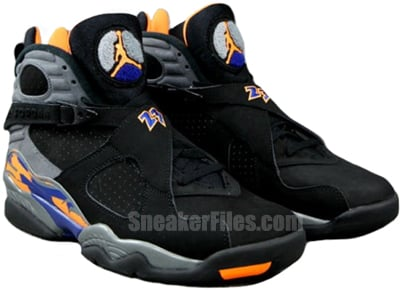 Air Jordan 8 Retro Black Citrus Grey Royal May 2013 Release Date