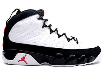 Air Jordan 9 White Black Red 2016
