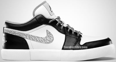 Air Jordan Retro V.1 Black Wolf Grey White Release Date 2012