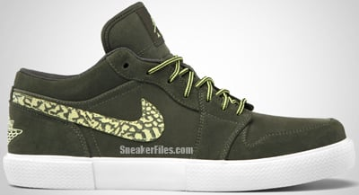 Air Jordan Retro V.1 Cargo Khaki Yellow Diamond White Release Date 2012