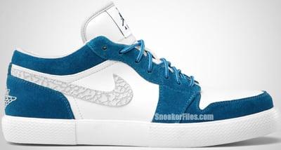 Air Jordan Retro V.1 Military Blue White Grey Release Date