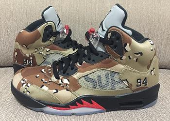 Supreme x Air Jordan 5 Camo Release Date