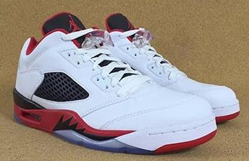 Fire Red Air Jordan 5 Low Release Date