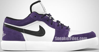 Jordan Retro V.1 Club Purple Black White Release Date 2012