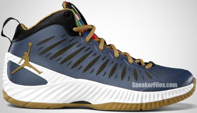 Jordan Super Fly Obsidian Metallic Gold White Release Date